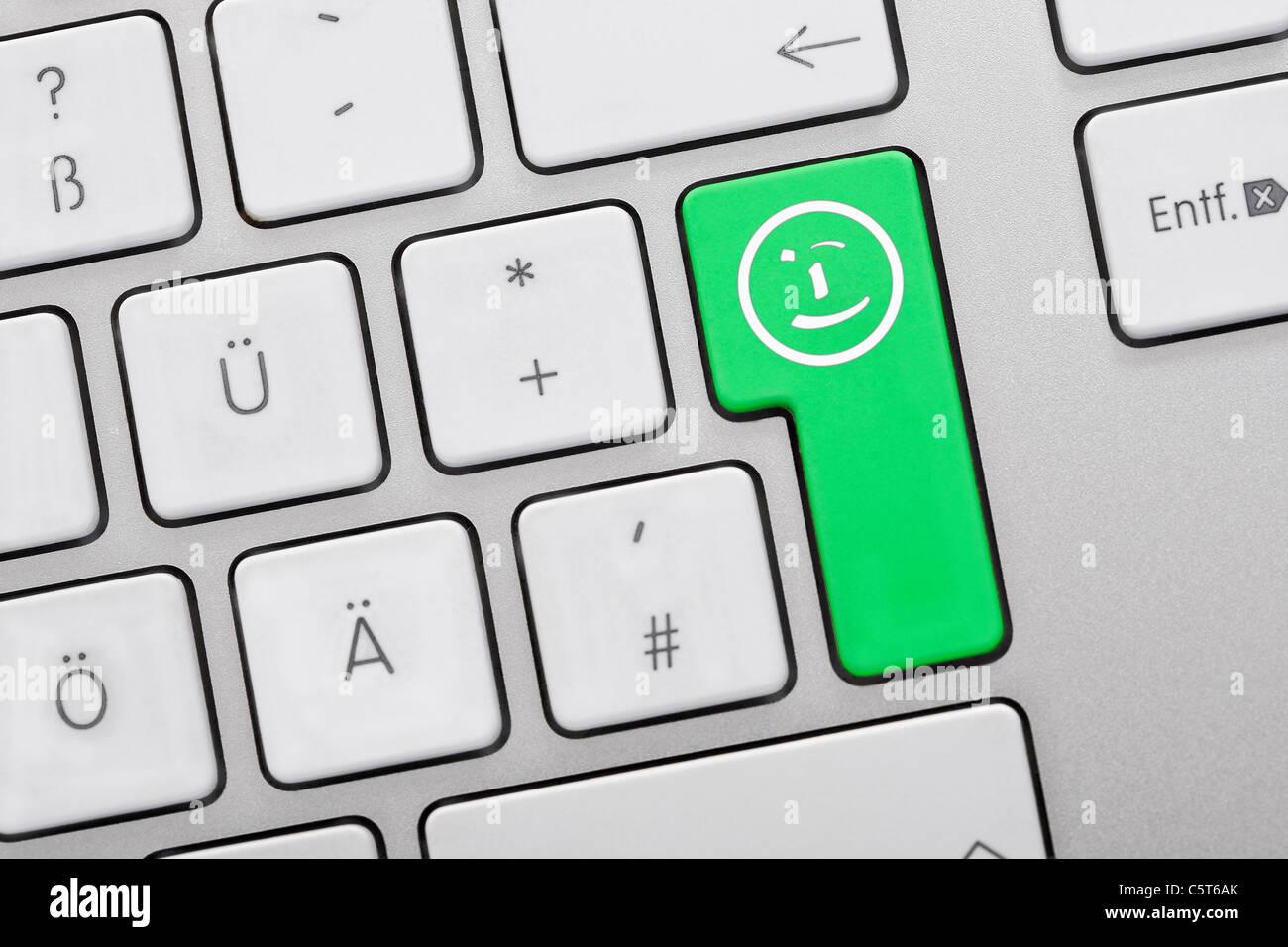 Text Gesichter Tastatur