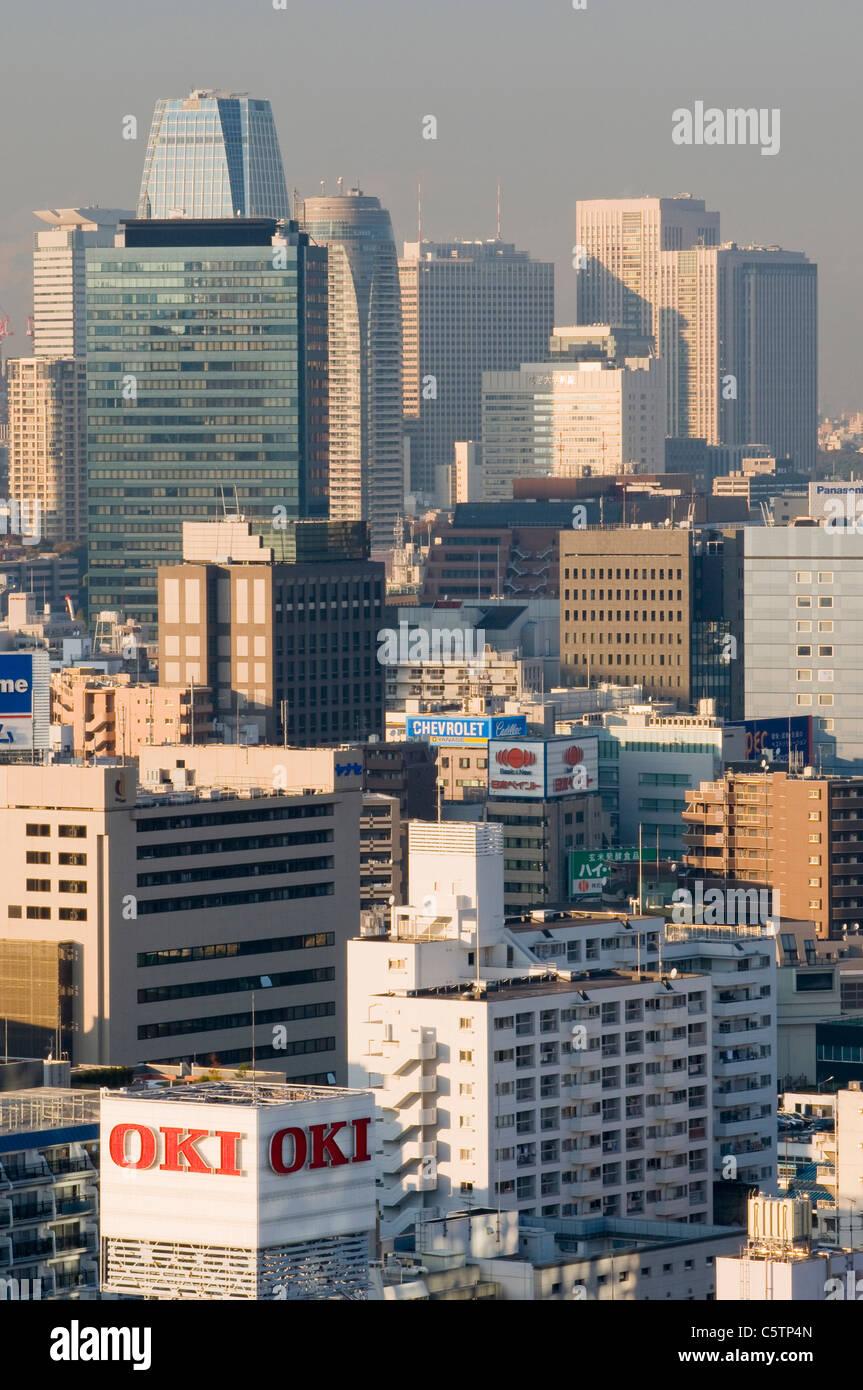 Japan, Tokyo, Stadtbild, Hochhäuser Stockbild