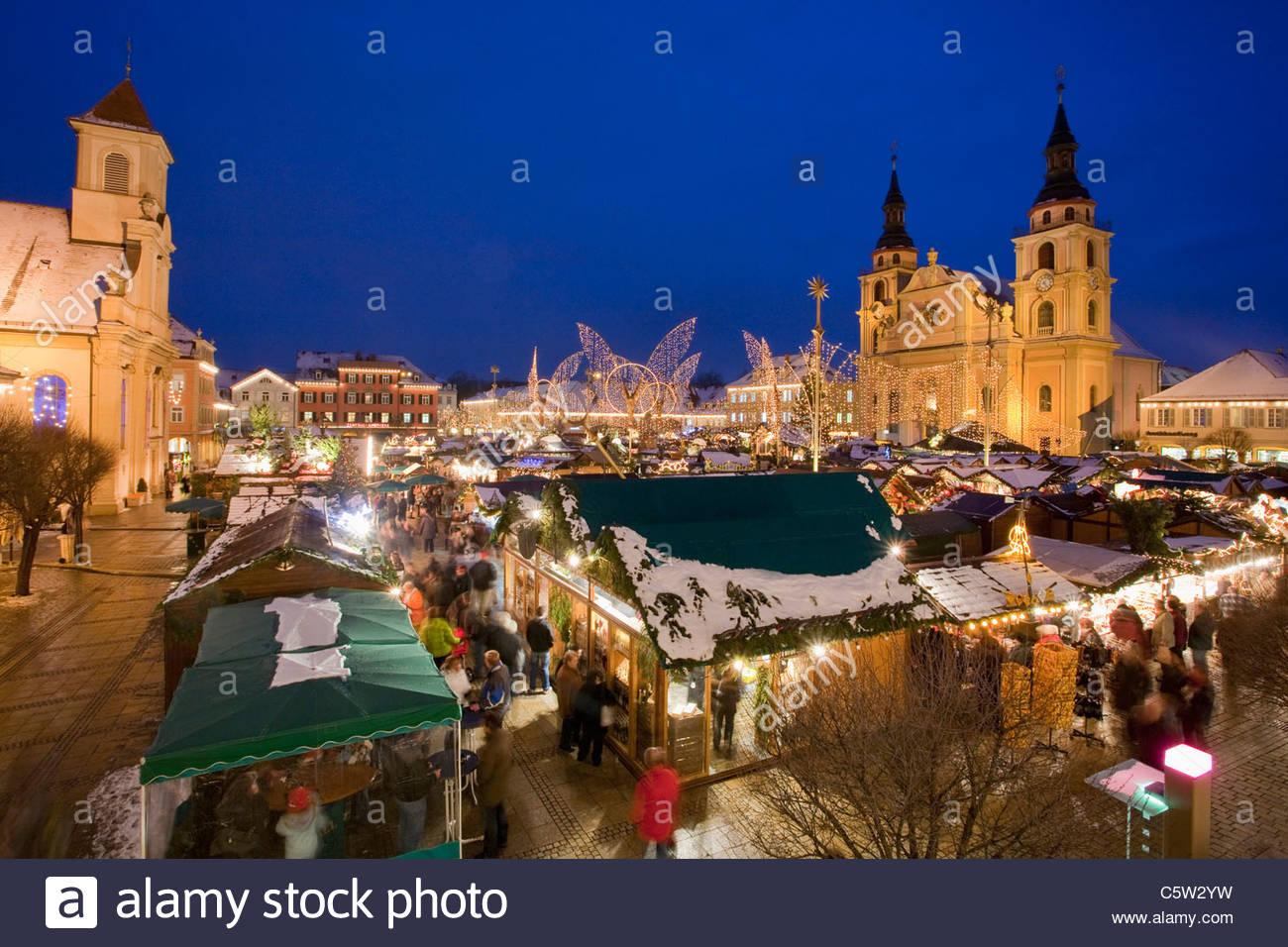 Ludwigsburg Weihnachtsmarkt.Deutschland Baden Württemberg Ludwigsburg Weihnachtsmarkt Erhöht