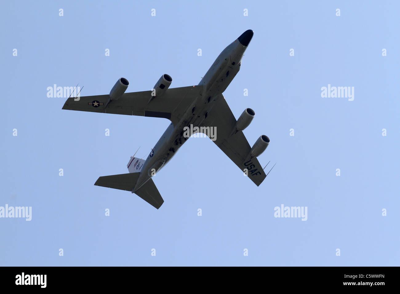 BOEING RC-135 W RIVET JOINT JET uns Luftwaffe 3. Juli 2011 Stockbild