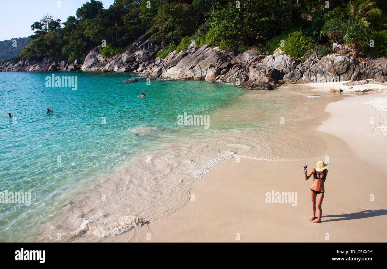 Freedom Beach Tropischen Strand Phuket Thailand Stockfoto Bild