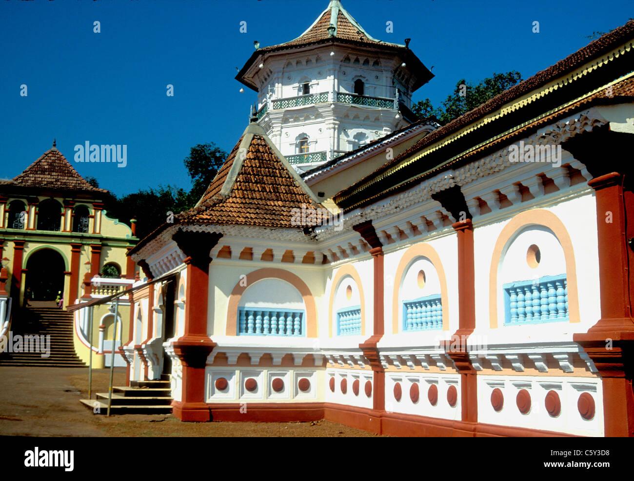 Sri Shantadurga Tempel in Goa Indien Stockbild