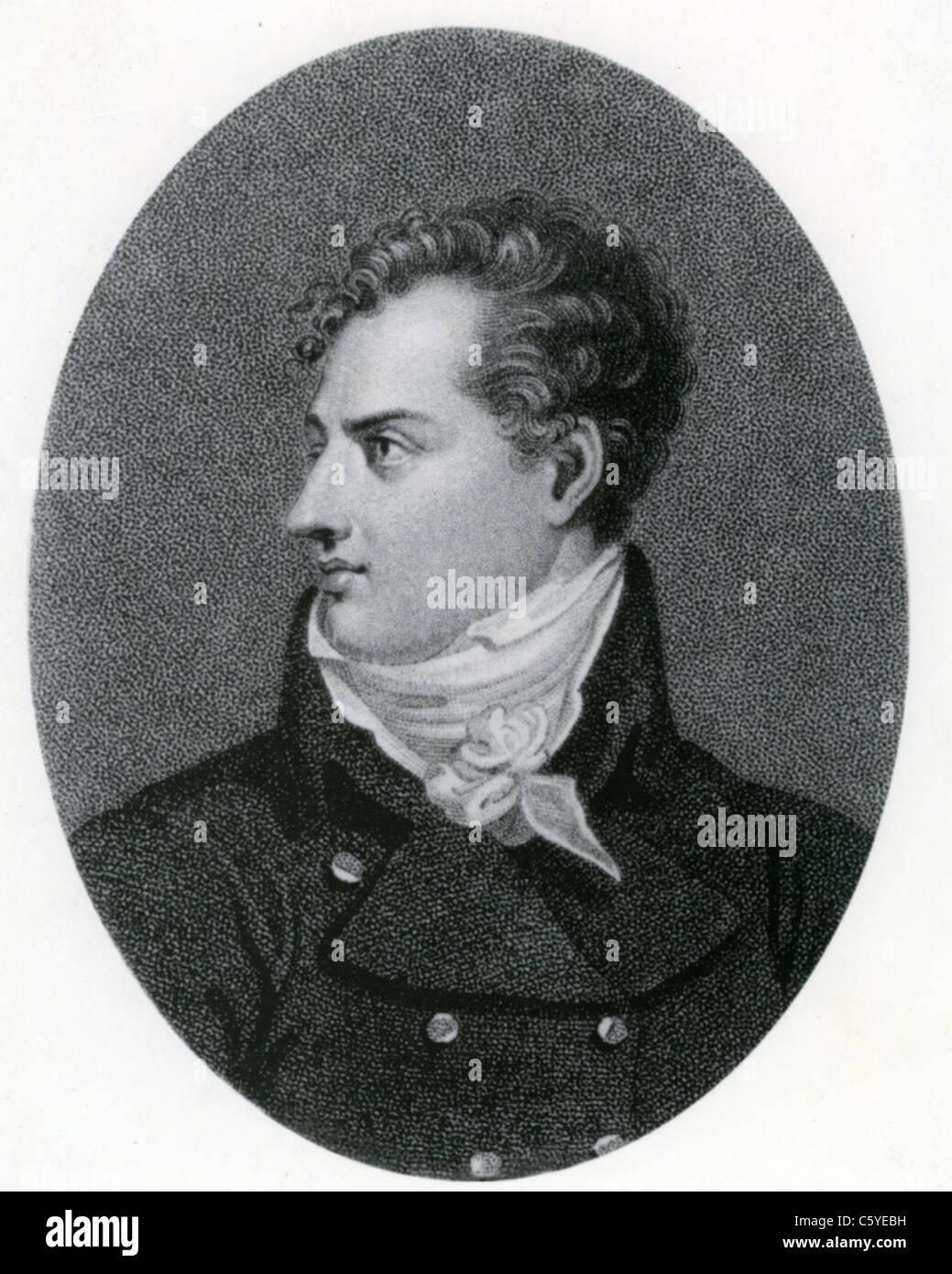 Britische Dichter LORD BYRON (1788-1824) im Jahre 1815 Stockbild