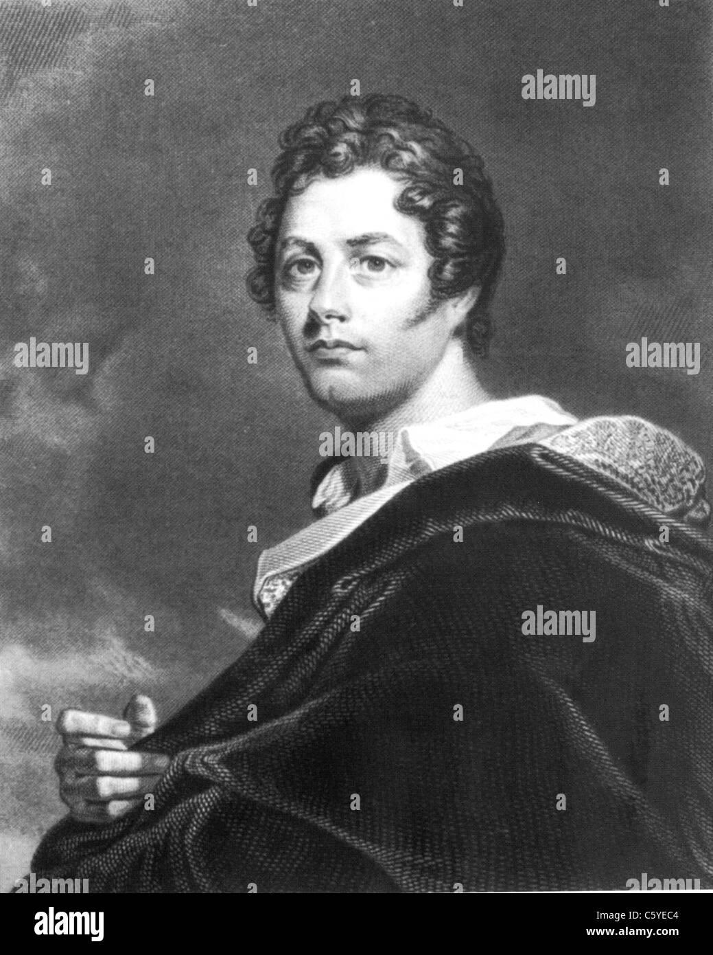 Britische Dichter LORD BYRON (1788-1824) im Jahre 1825 Stockbild