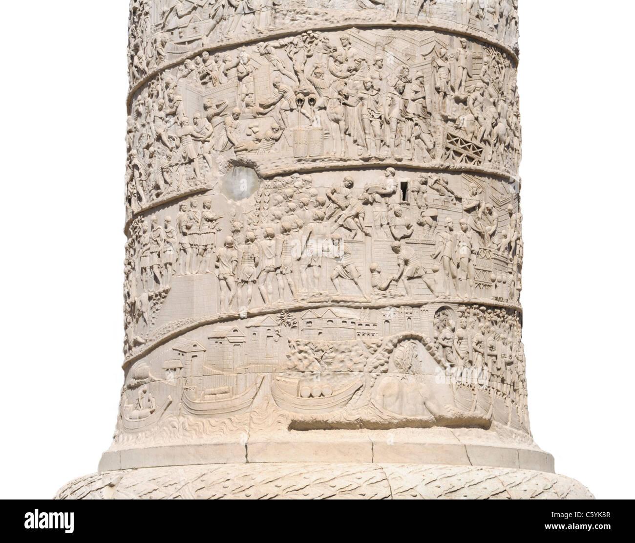Trajans Spalte (Colonna Traiana) Detail, Rom Stockbild