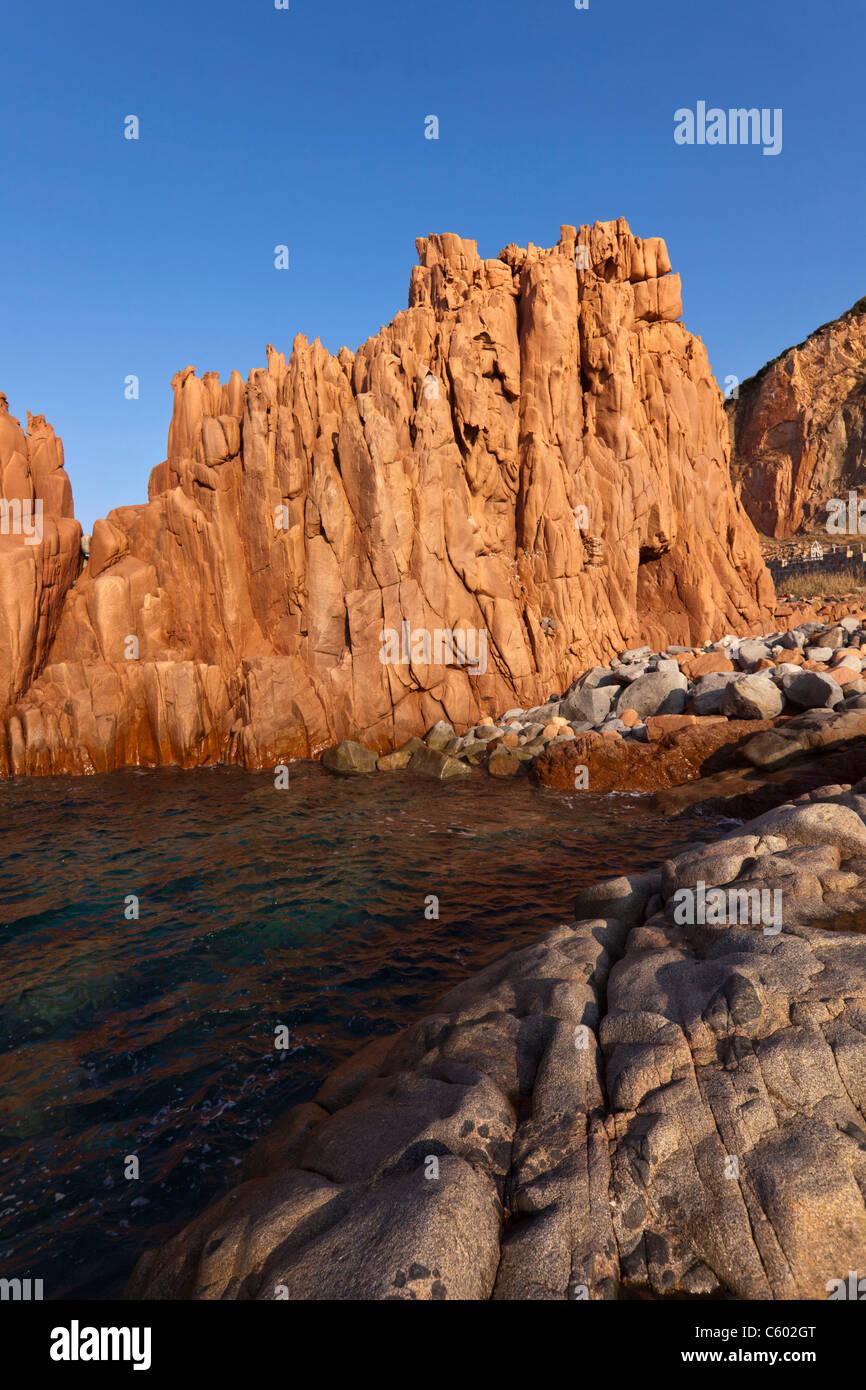Roten Felsen, Arbatax, Italien-Sardinien-Insel, Mittelmeer, Europa Stockbild