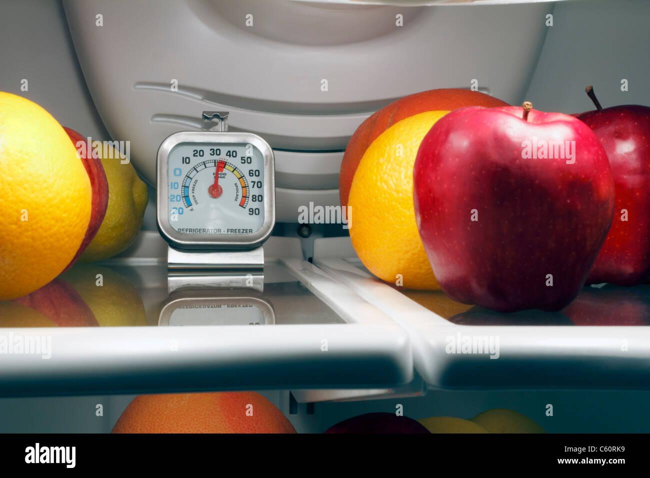 Kühlschrank Thermometer : Kühlschrank thermometer in dem obersten regal einen kühlen