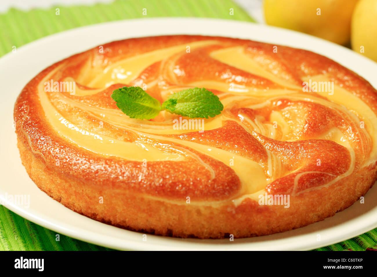 Frisch gebackenen süßen Quark Kuchen Stockfoto