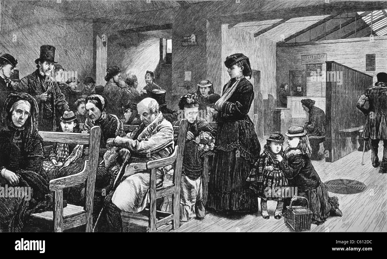 hospital london 19th century stockfotos hospital london 19th century bilder alamy. Black Bedroom Furniture Sets. Home Design Ideas