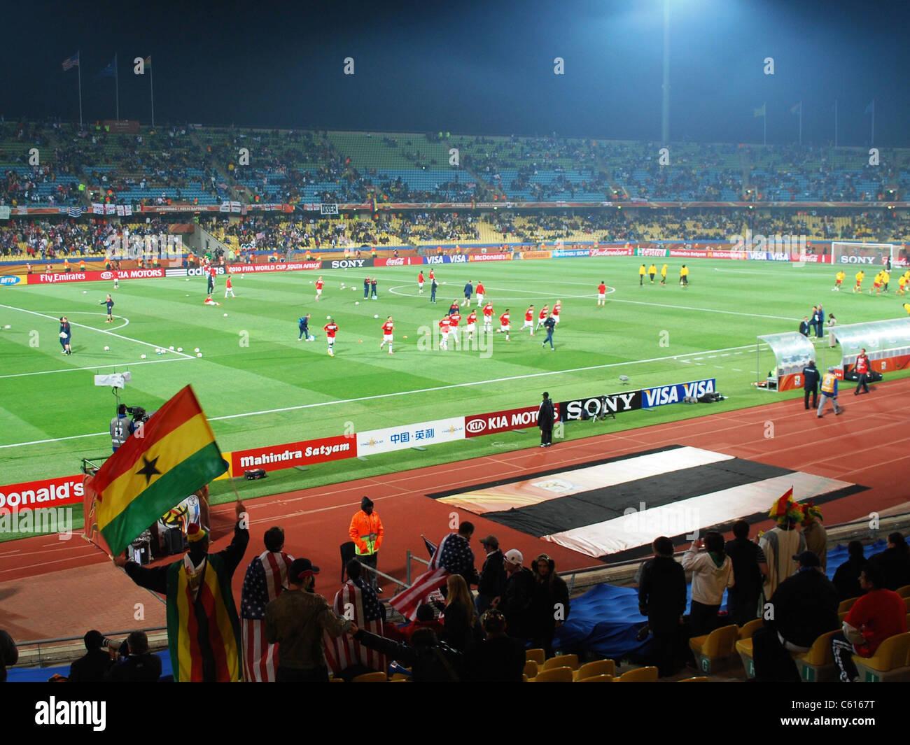 Usa Vs Ghana In Einem Fifa Wm 2010 Fußball Match Bei Der Royal
