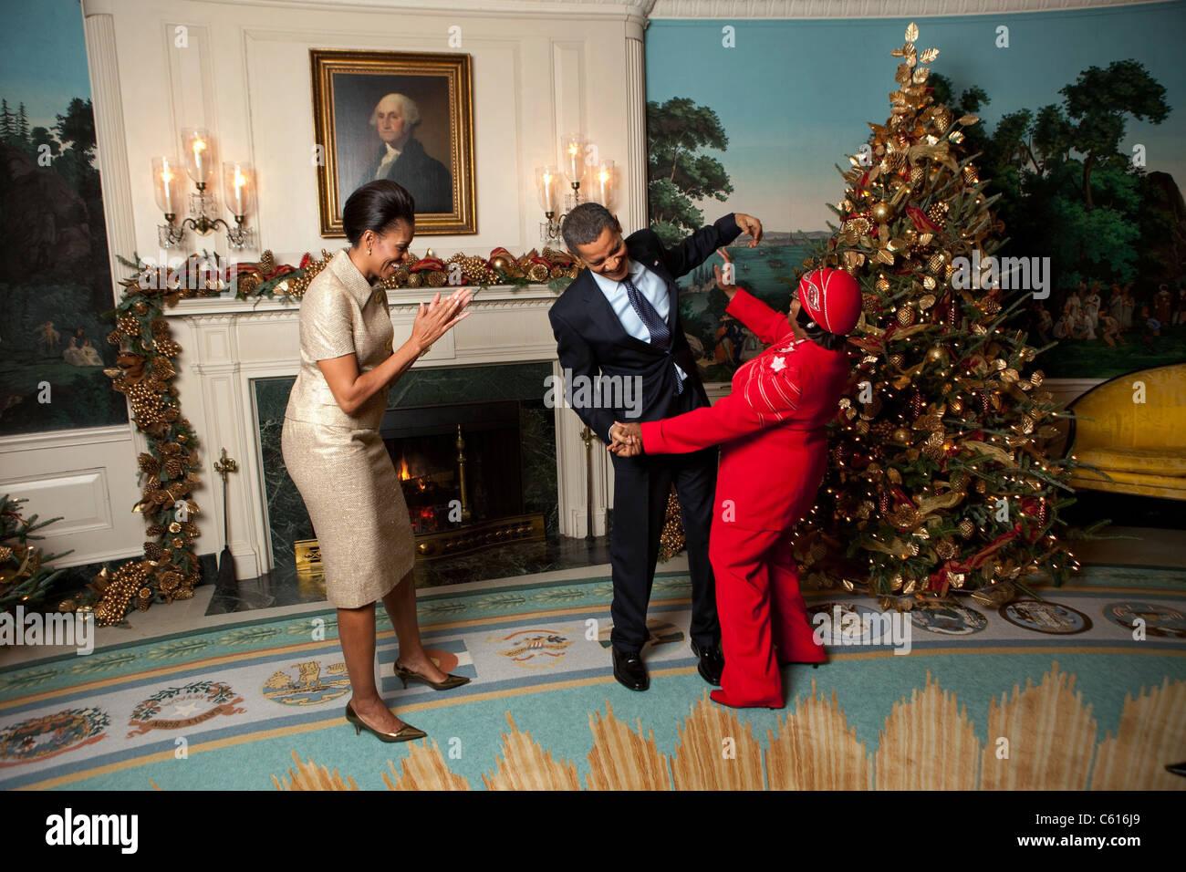 Präsident und Michelle Obama Grüße Edith Childs von Greenwood S.C. ...