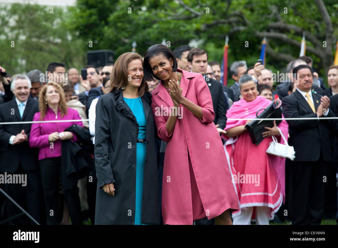 Mrs Margarita Zavala First Lady Stockfotos & Mrs Margarita