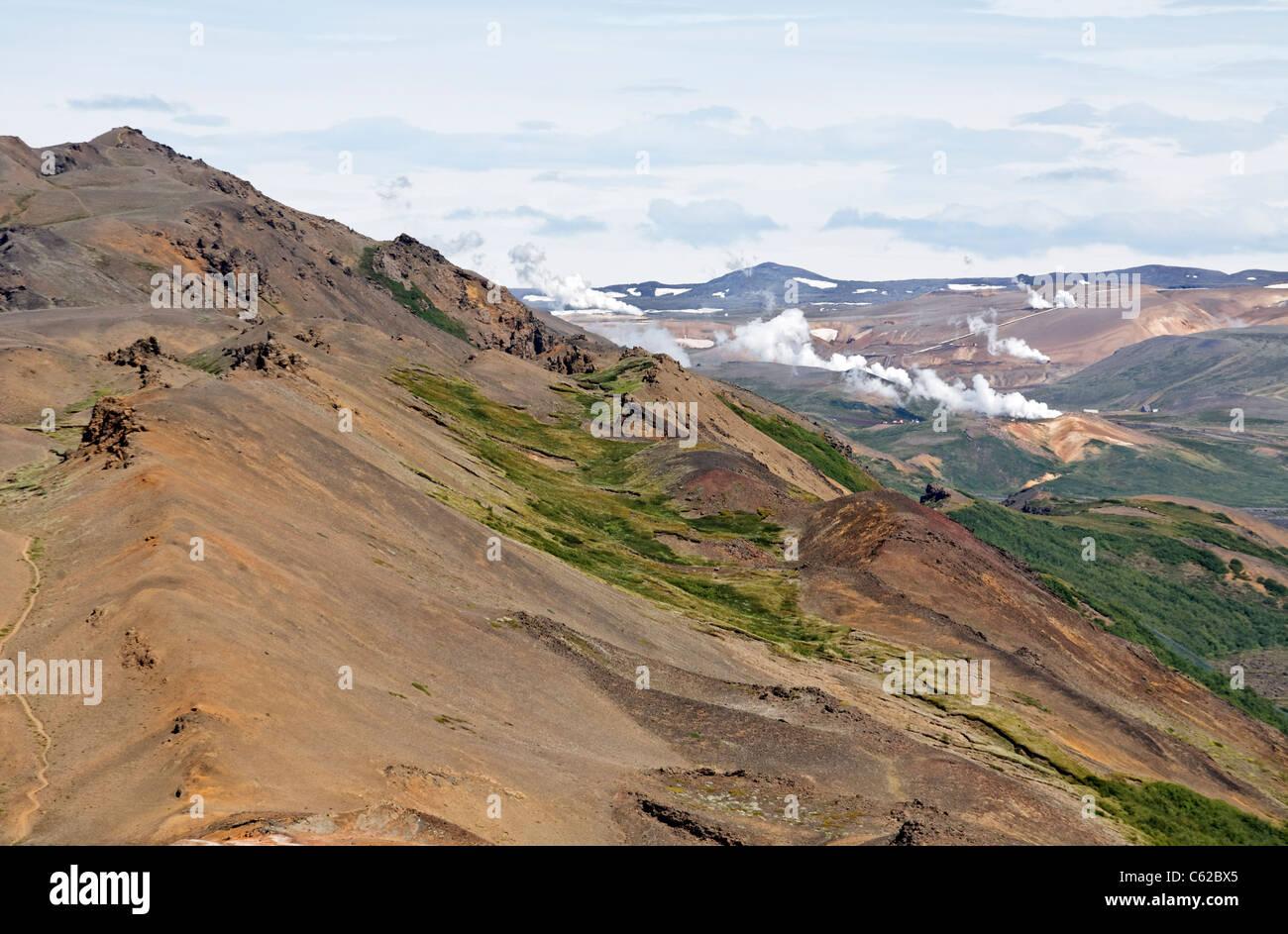 Die Landschaft am Namafjall, Island Stockbild