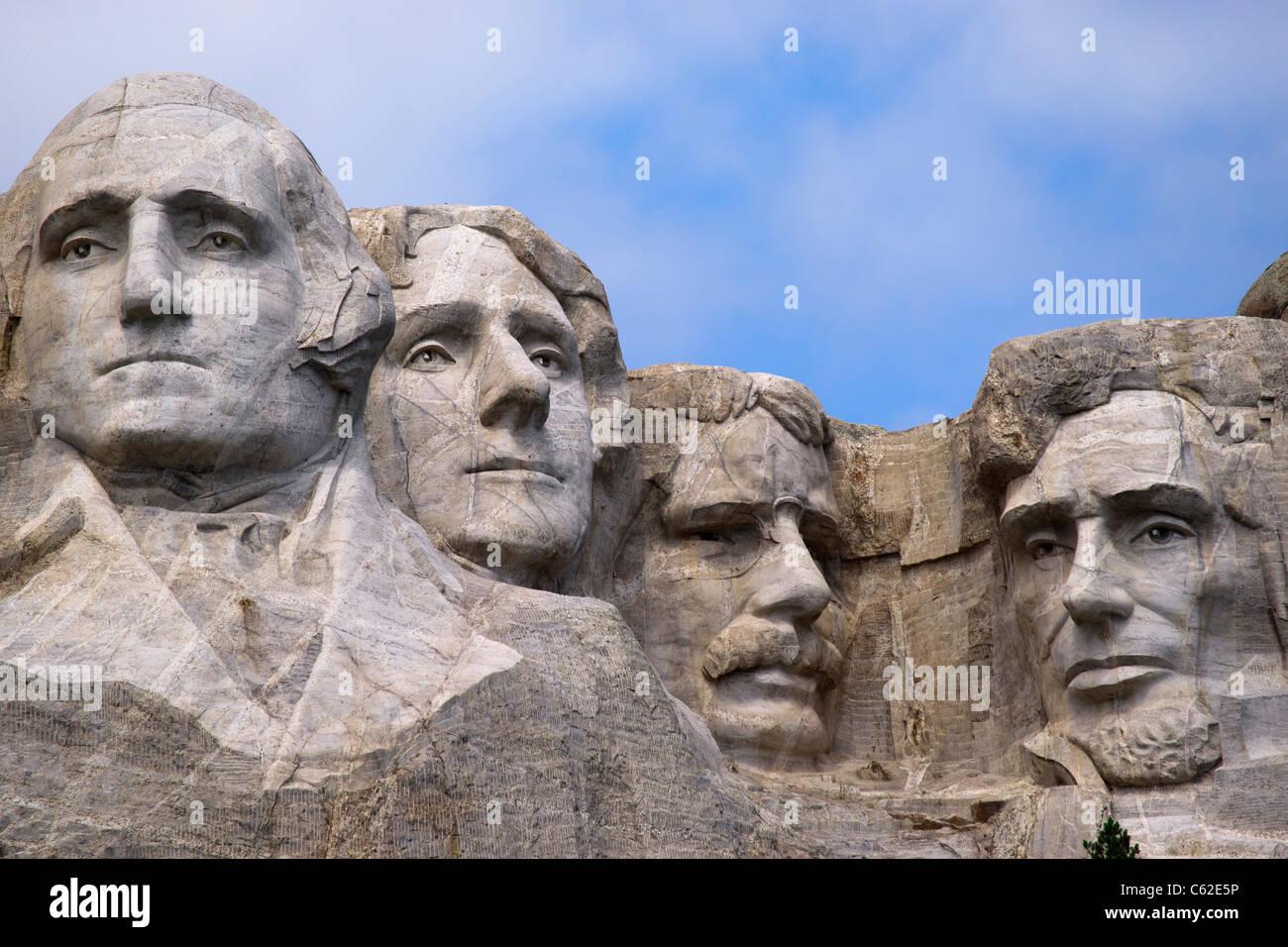 4 us präsidenten in stein