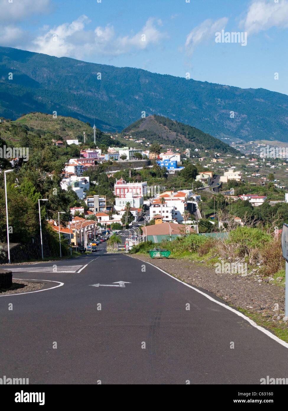 Typisches kleines kanarisches Dorf, Mazo, La Palma, Kanarische Inseln, Spanien, Europa Stockbild