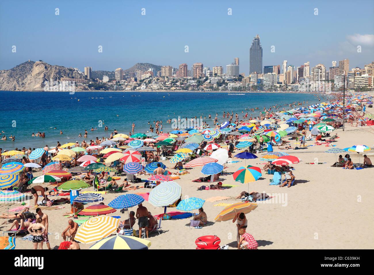 Beliebten Ferienort Benidorm in Spanien Stockbild