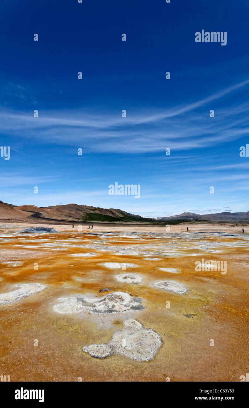 Landschaft am Hverir, Island Stockbild