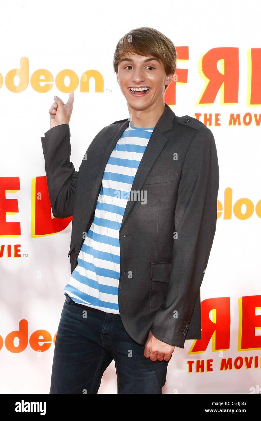 Lucas Cruikshank im Ankunftsbereich für FRED: THE MOVIE Premiere, Paramount Theatre, Los Angeles, CA 11. September Stockbild