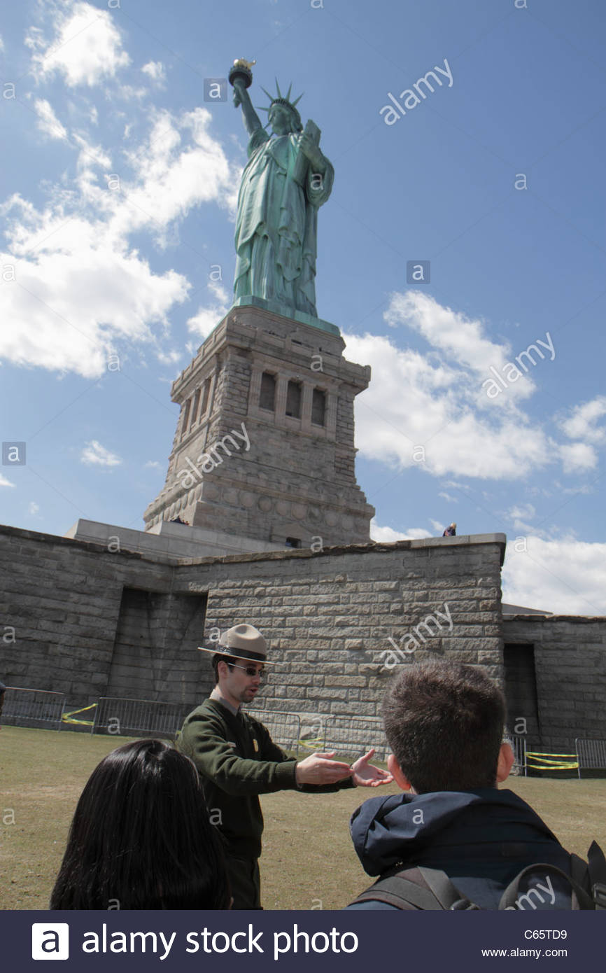 New York New York City NYC Upper Bay Statue Cruises Statue of Liberty National Monument Liberty Island Freiheit Stockbild