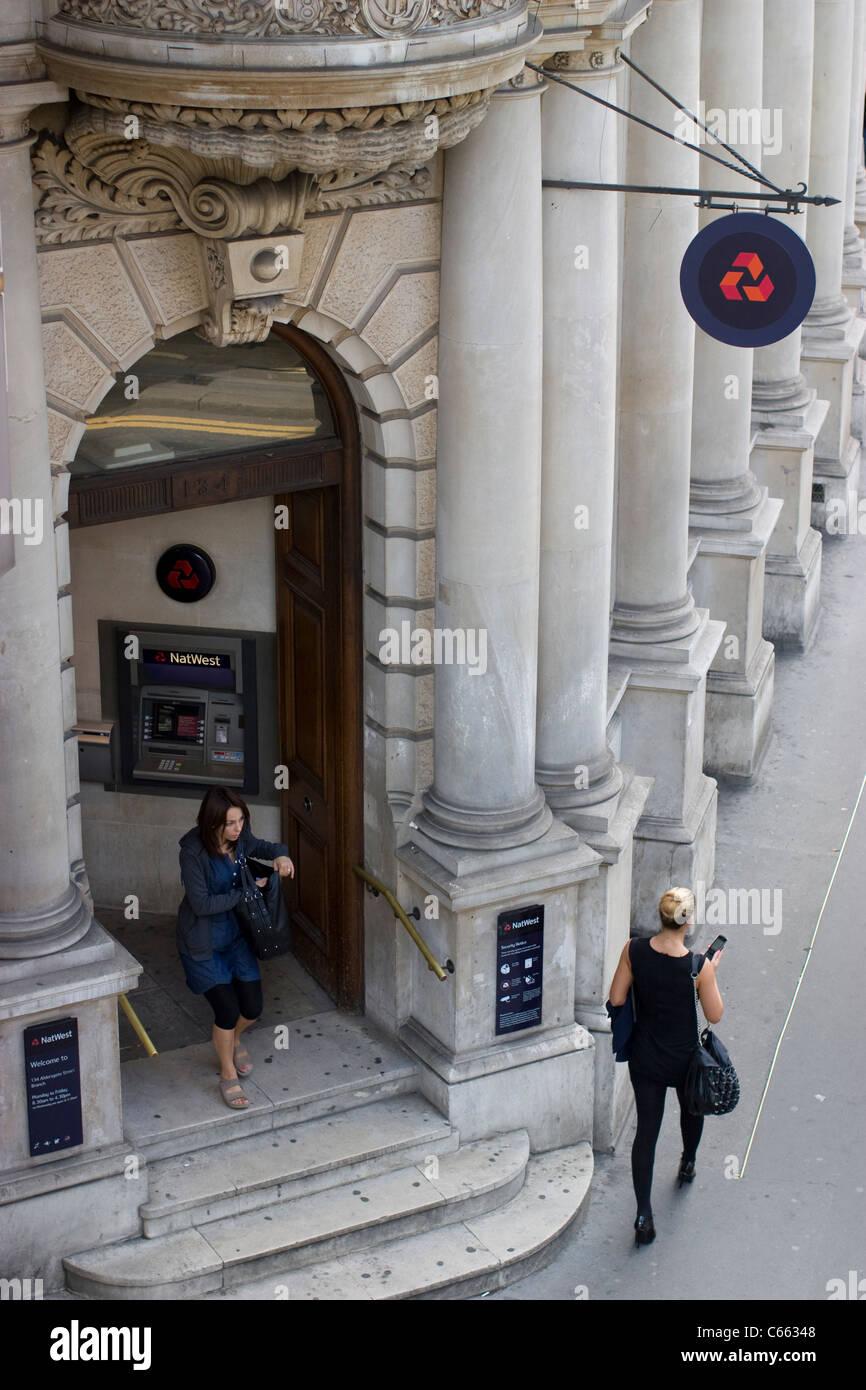 National Westminster Bank Filiale Barbican London Stockbild