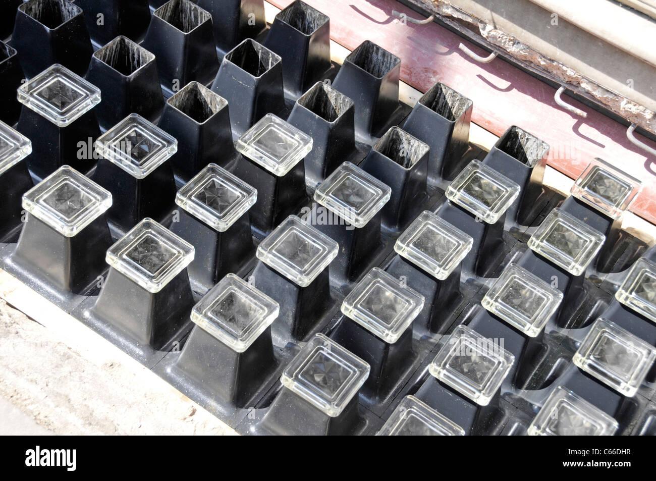 Inverkehrbringen Austausch Pflaster Licht mit quadratischen