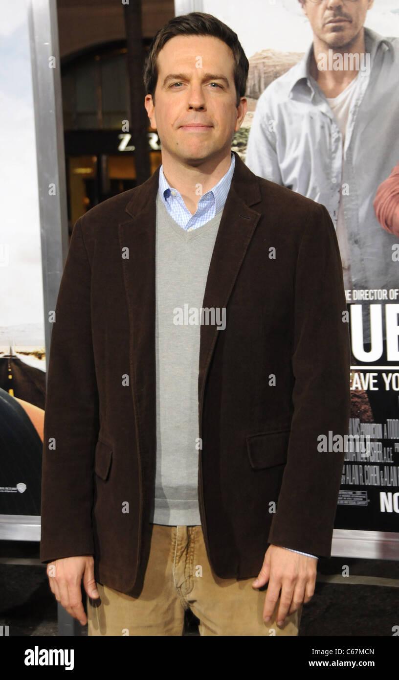 Ed Helms im Ankunftsbereich für DUE DATE Premiere, Graumans Chinese Theatre, Los Angeles, CA, 28. Oktober 2010. Stockfoto