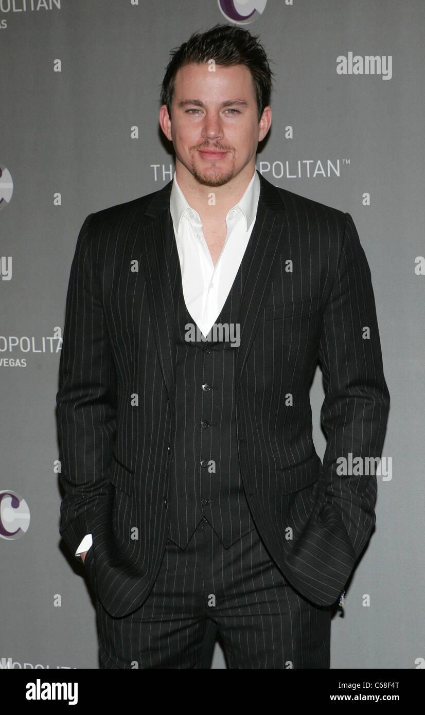 Channing Tatum in Anwesenheit für NYE Grand Opening Dinner und JAY-Z und Coldplay Konzert Ankünfte, The Stockbild