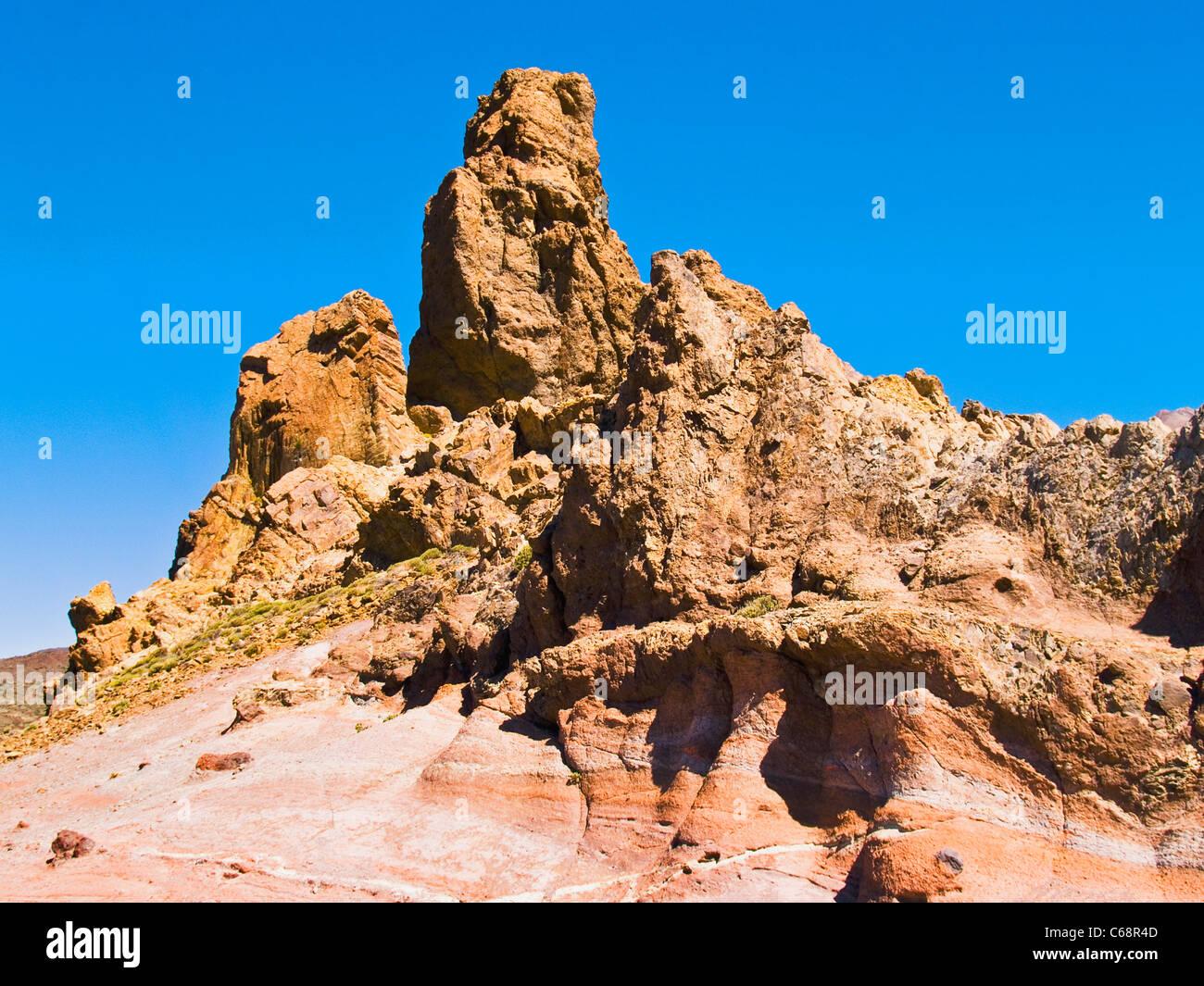 Rock im Teide Nationalpark Teneriffa, Kanarische Inseln-Spanien-Europa Stockbild