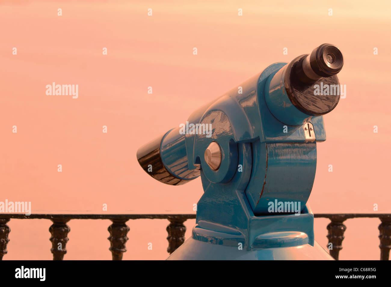 Münze im Slot malerische Teleskop Stockbild