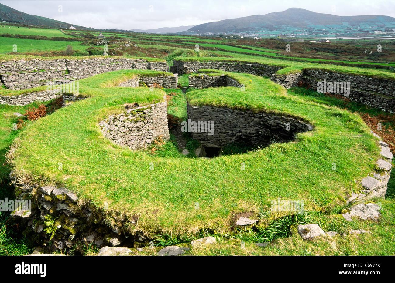 Leacanbuaile frühen mittelalterlichen Steinkastell befestigte ...