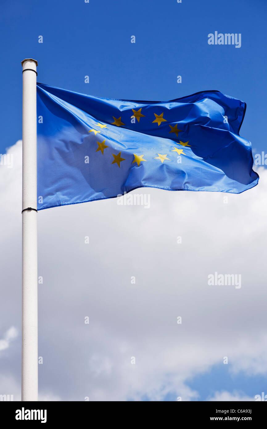 Fahne der Europäischen Union Stockbild
