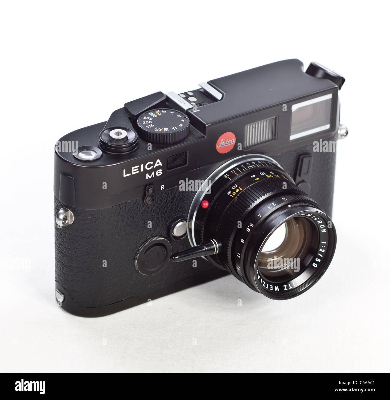 dbd3f7b6aec9 Leica M6 TTL Entfernungsmesser RF 35mm Filmkamera mit Classic 50mm  Summicron f2 Objektiv schwarz