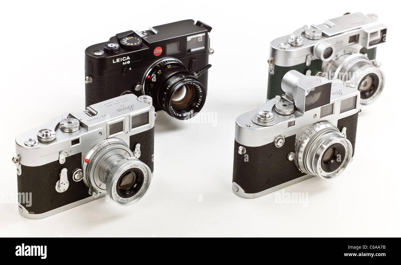 Gruppe von leica classic leica entfernungsmesser kameras m m m