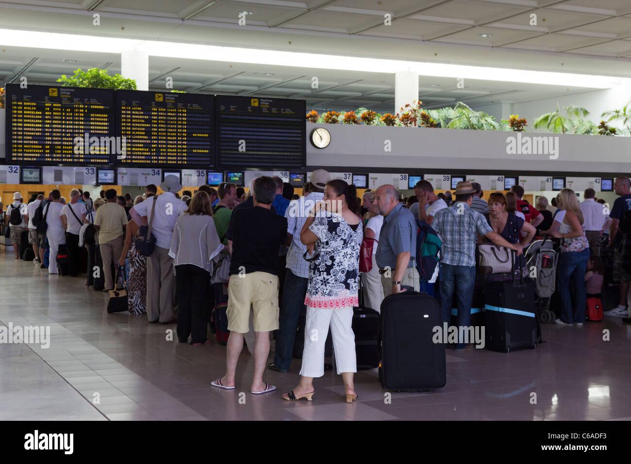Thompson Airlines - Flughafen Lanzarote - Kanarische Inseln - Spanien Stockbild