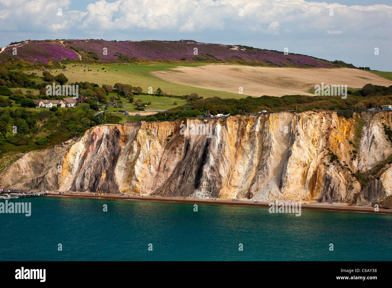 Alum Bay Isle of Wight England Großbritannien Stockfoto