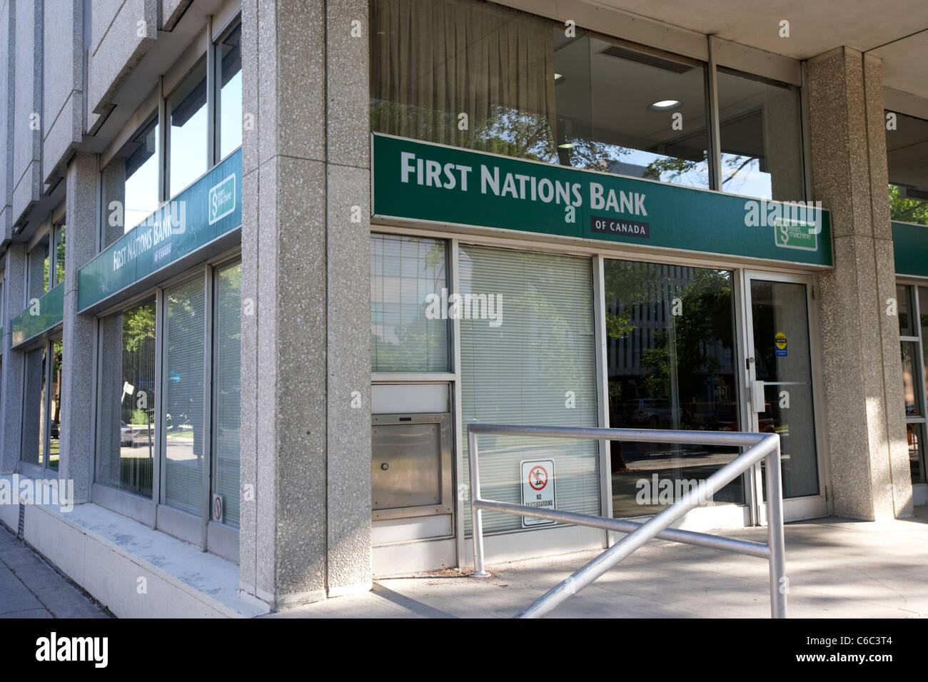 erste Nationen Bank von Kanada Zweig Winnipeg Manitoba Kanada Stockbild