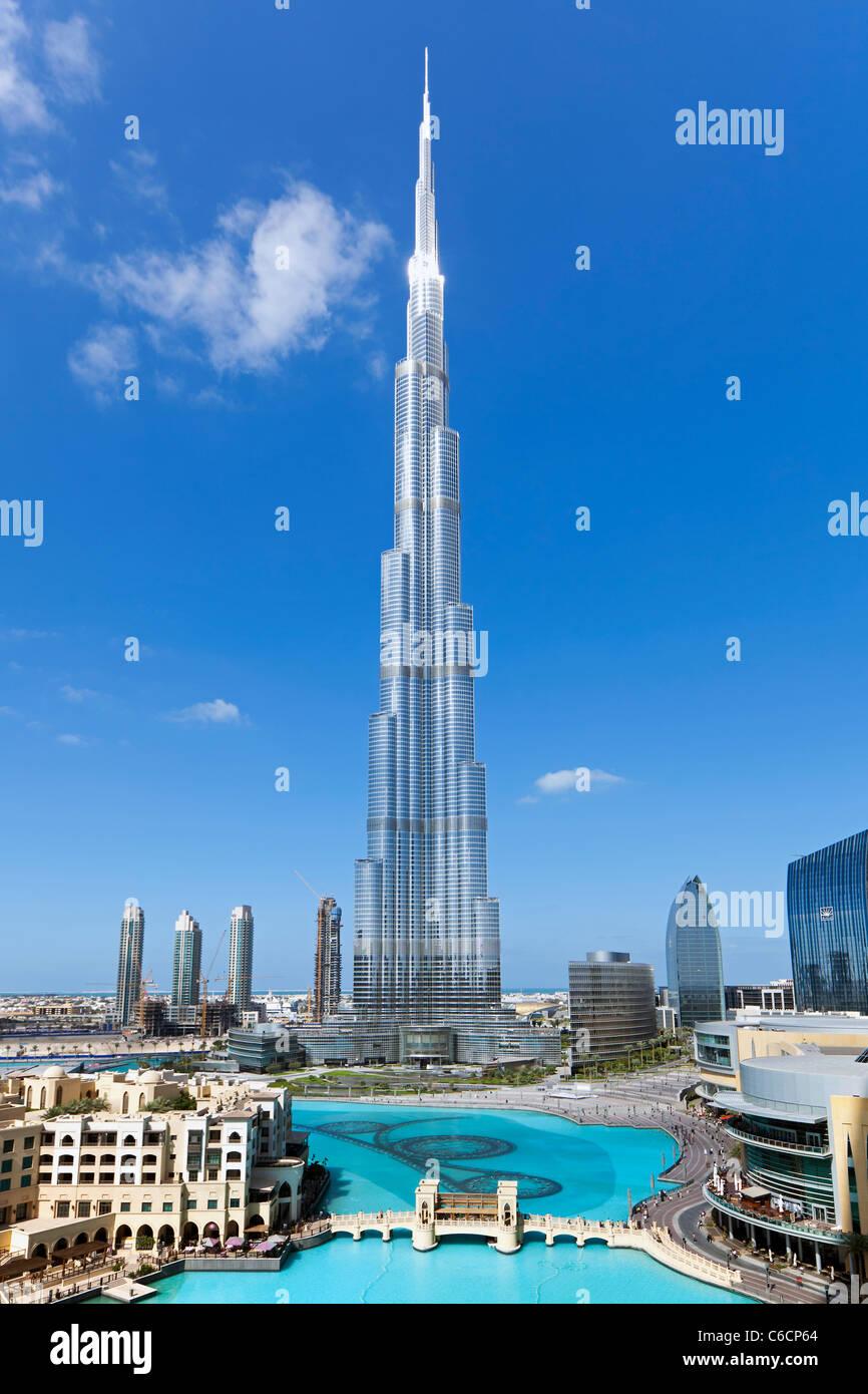 Das Burj Khalifa, abgeschlossen im Jahr 2010 die höchsten künstlichen Bauwerk der Welt, Dubai, Vereinigte Arabische Stockfoto