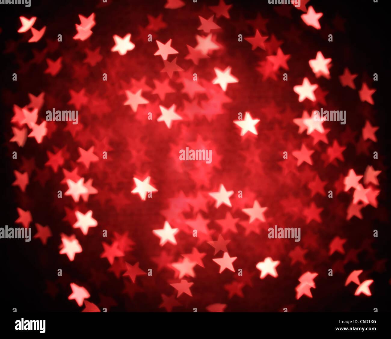 Glitzer von Weihnachten Beleuchtung Hintergrund Stockbild