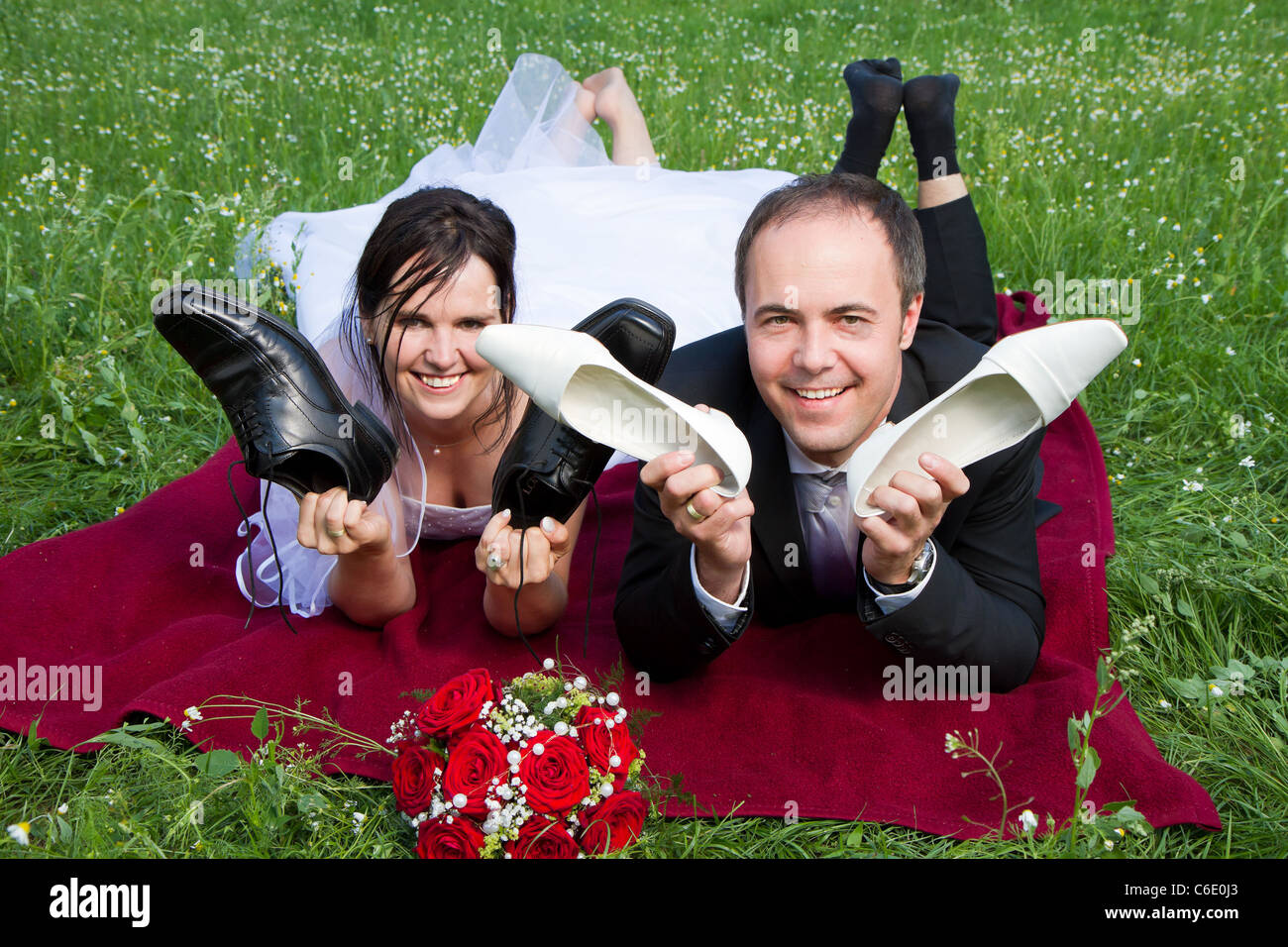 Roter Brautstrauss Stockfotos Roter Brautstrauss Bilder Alamy