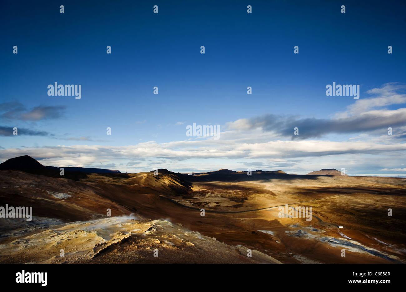 Namafjall Mountain Island Stockbild