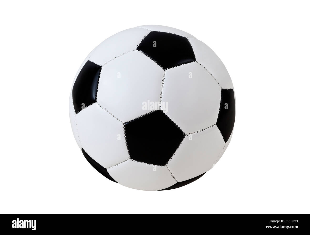 Fußball mit Clipping Path Stockbild