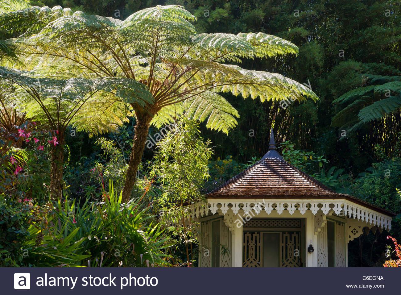 La Réunion: Villa Folio in Hell-Bourg - Cirque de Salazie Stockbild