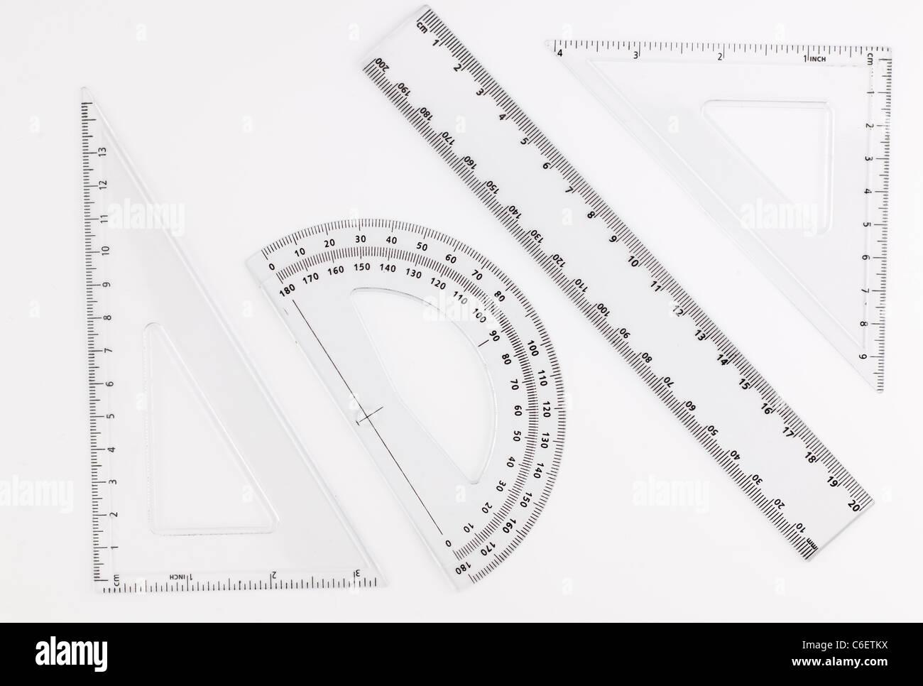 Kunststoff Kreise Quadrate Geometrische Vorlage Lineal Schablone MesswerkzeugPDH
