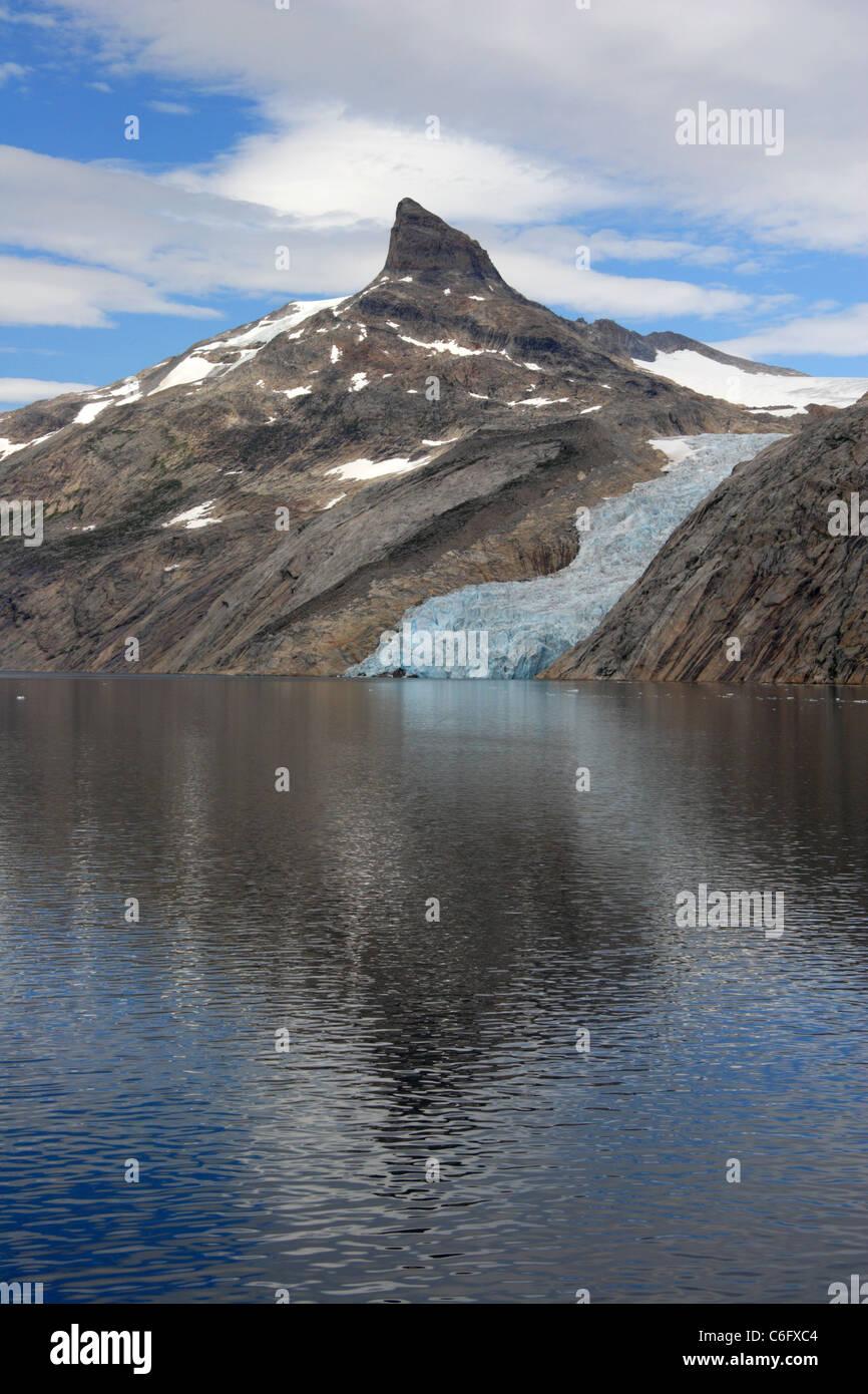 Gletscher im Prinz-Christian-Sund, Grönland Stockfoto
