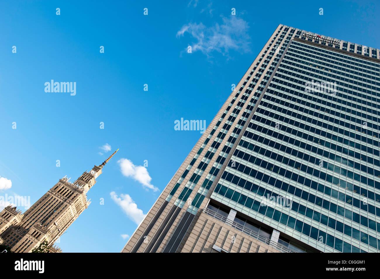 Moderne und zeitgenössische Architektur in Warschau, Zentralpolen Stockbild