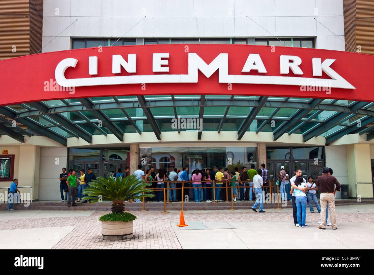 Kino in San Salvador, El Salvador Stockbild