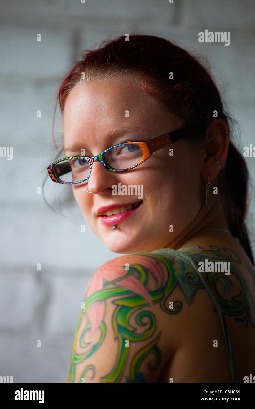 Schöne junge alternative Frau, Washington DC Stockbild
