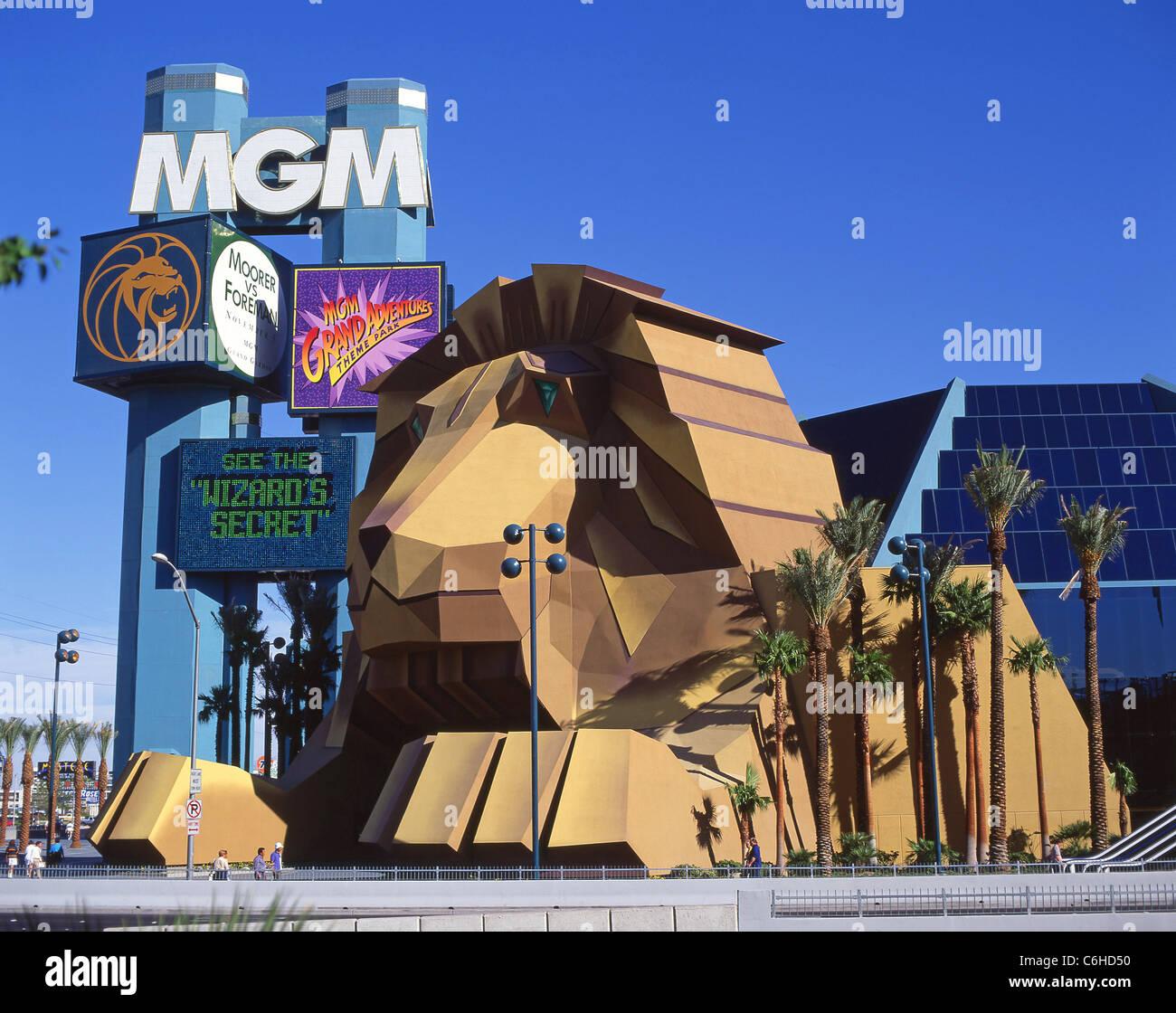 Mgm Grand Hotel Casino Lowen Eingang Vegas Strip Las Vegas Nevada Vereinigte Staaten Von Amerika Stockfotografie Alamy