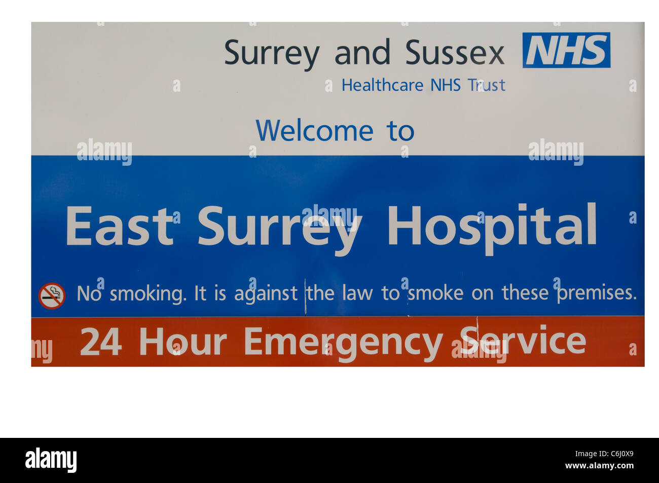 Osten Surrey NHS National Health Service Hospital Stockbild