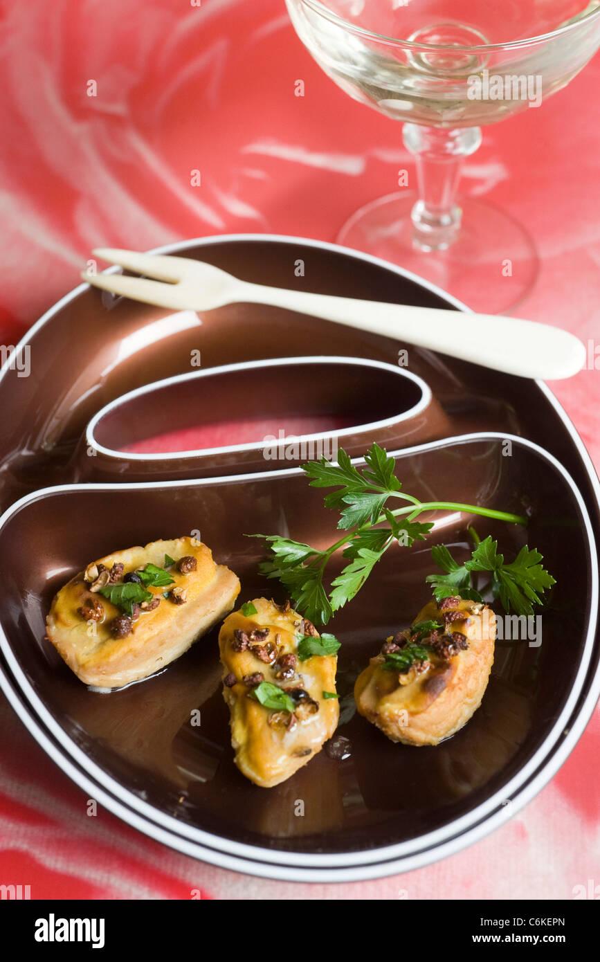 Rognon Blanc mit Senf Stockbild